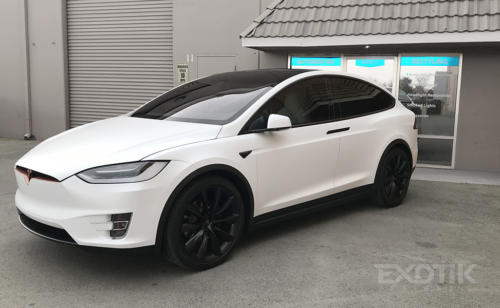 Tesla Model X Wrapped In Xpel Stealth