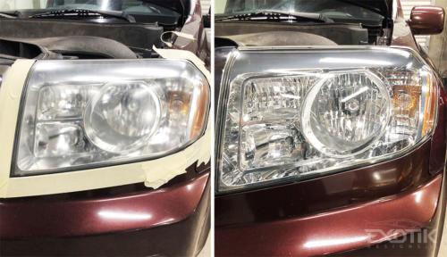 Before & After Headlight Restoration
